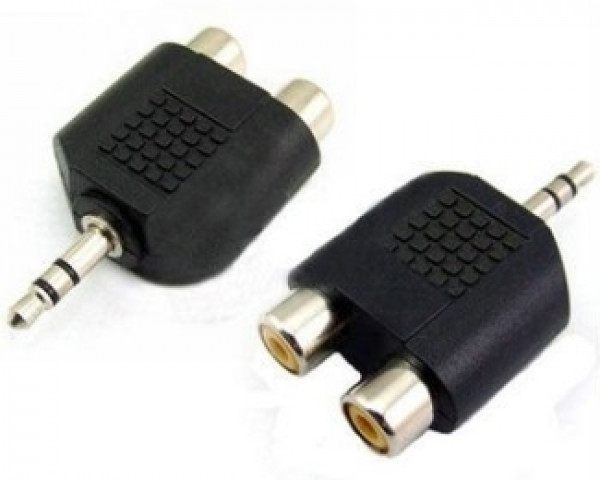 FAST ASIA Adapter audio 3.5mm - 2xRCA crni