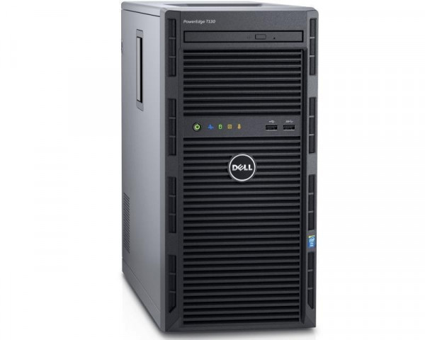 DELL PowerEdge T130 Xeon E3-1220 v6 4C 1x8GB H330 2TB NLSAS DVDRW 3yr NBD