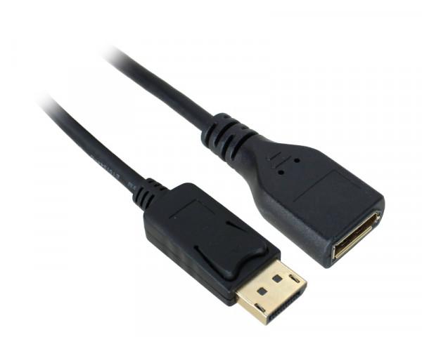 E-GREEN DisplayPort (M) - DisplayPort (F) 1.8m crni