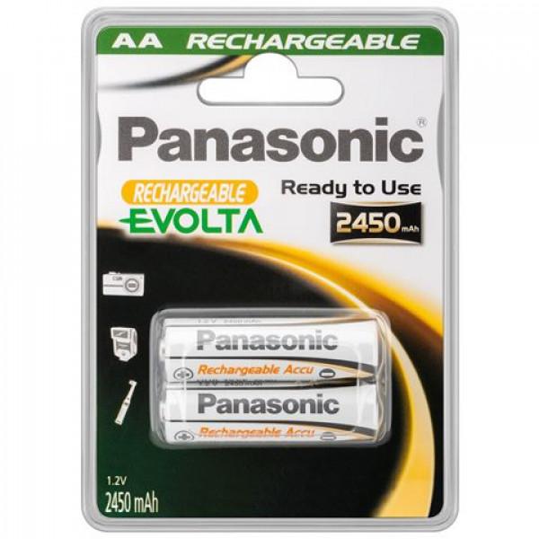 PANASONIC baterije HHR-3XXE2BC - 2× AA punjive 2450 mAh