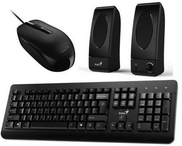 Genius tastatura+miš+zvučnik  KMS U130, US