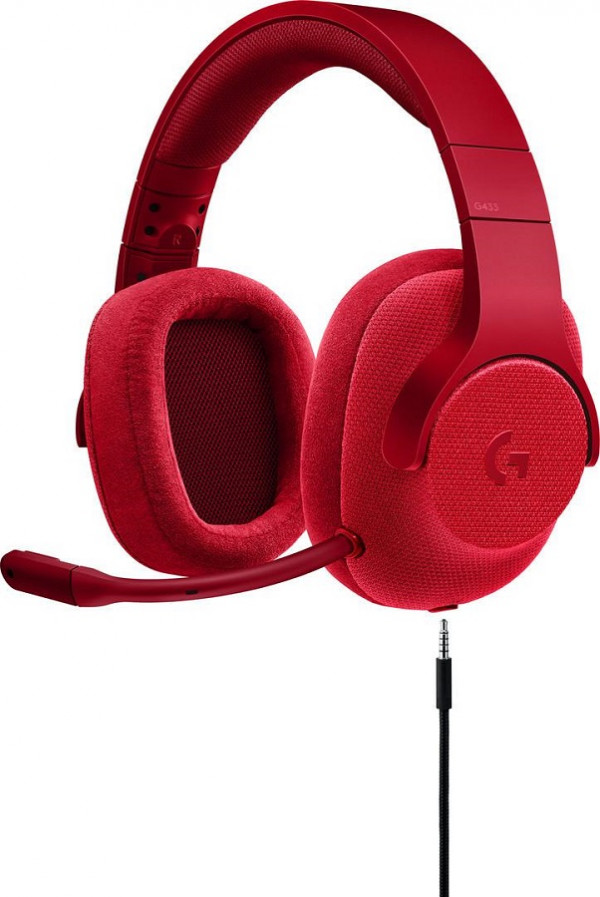 Logitech G433 Surround Sound Gaming Headset FIRE RED-3.5MM