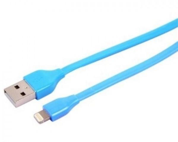 E-GREEN Kabl za iPhone 5,6,7 1m plavi