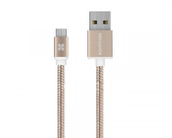 PROMATE U2M micro USB kabl 1.2m zlatni
