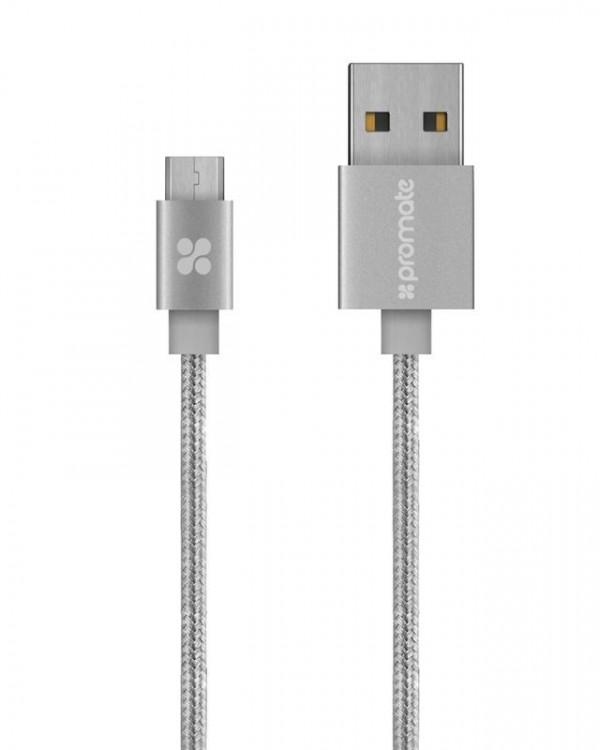 PROMATE U2M micro USB kabl 1.2m sivi