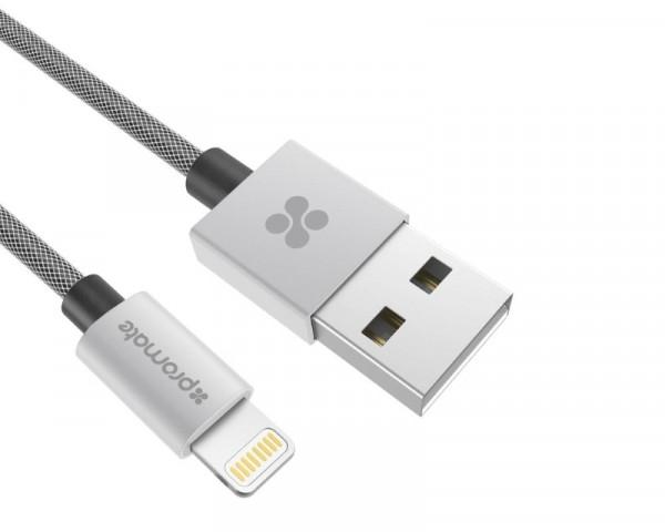 PROMATE linkMate-LTF2 USB Kabl za Iphone 2m sivi
