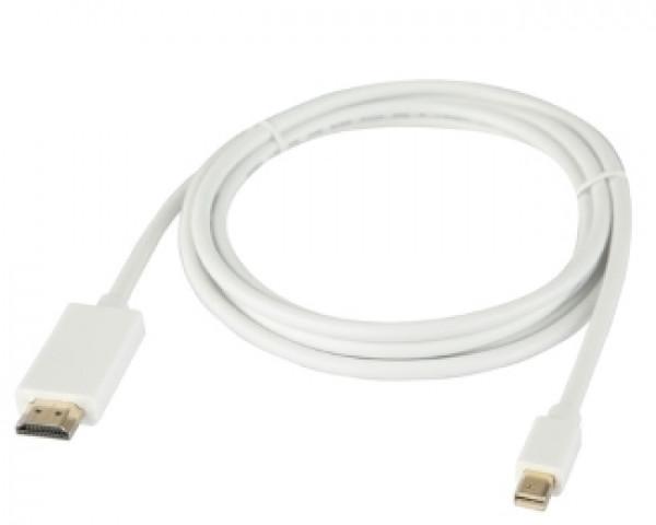 E-GREEN Mini DisplayPort (M) - HDMI (M)  (aktiv mod) 1.8m beli