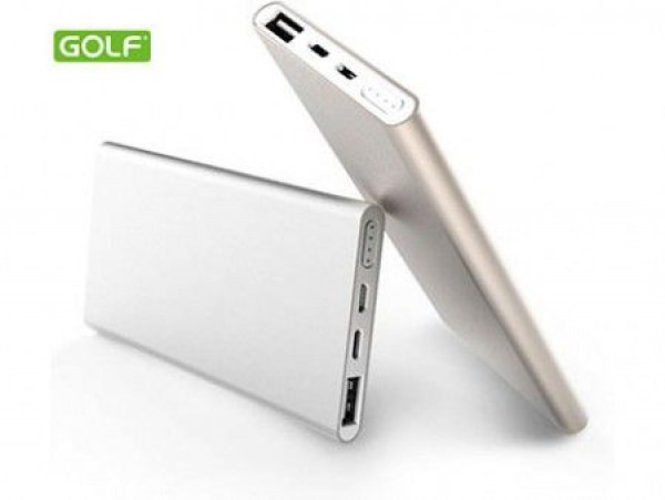 Power bank Golf 5000mAh silver 2xUSB ( 00G40 )