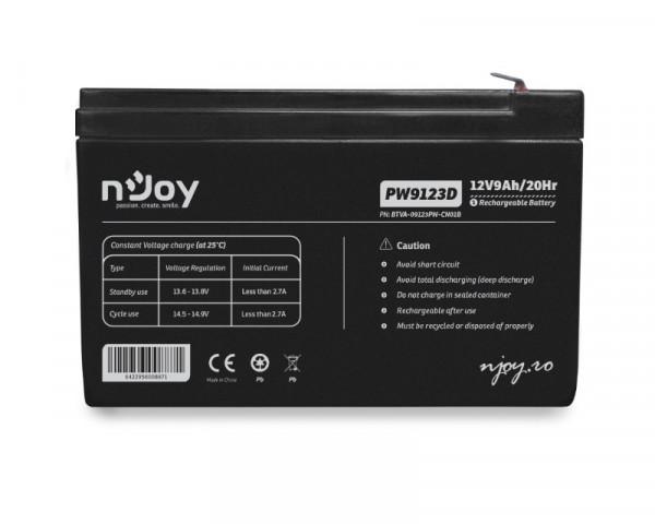 NJOY PW9123D baterija za UPS 12V 9Ah (BTVA-09123PW-CN01B)