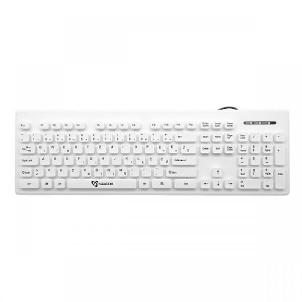 S BOX K 16 W  Tastatura USB  105 tastera