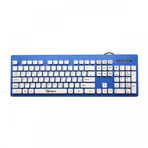 S BOX K 16 BL  Tastatura USB  105 tastera