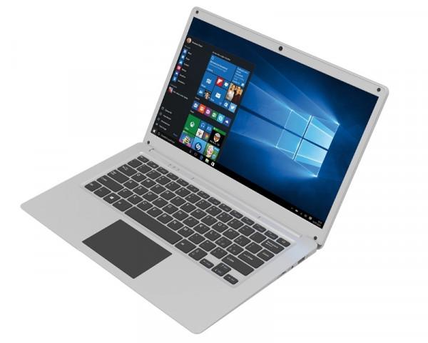 MEDIACOM SmartBook SB145 14.1'' Intel N3350 Dual Core 1.10GHz (2.40GHz) 4GB 32GB Windows 10 Home 64bit srebrni