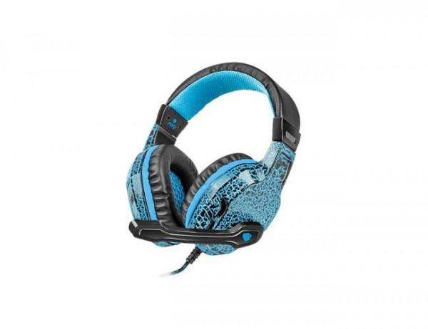 Slušalice sa mikrofonom Fury Hellcat NFU-0863, plava