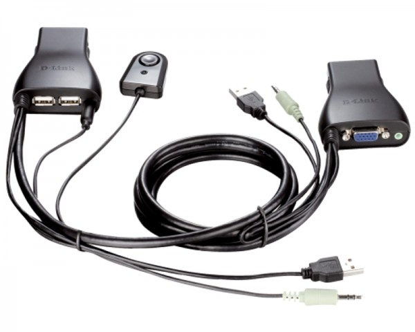 D-LINK DKVM-222 KVM switch 2port USB + audio support