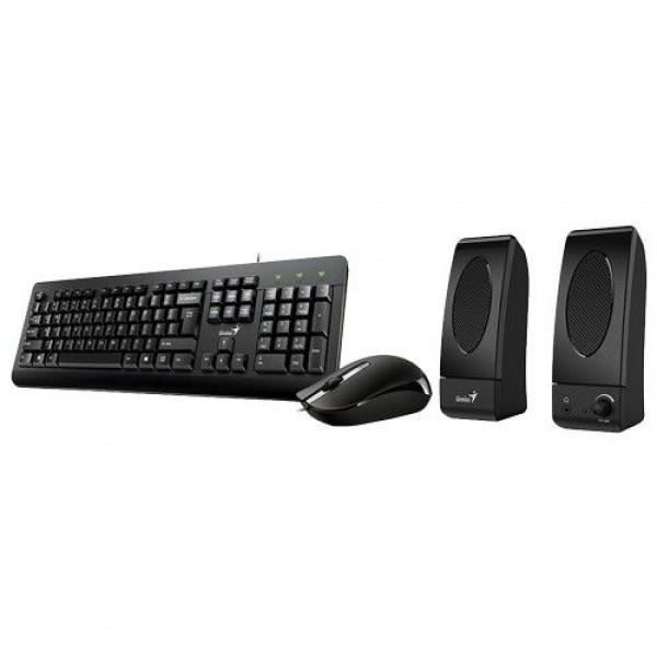 GENIUS komplet tastatura, miš i zvučnici KMS-U130 (Crni) EN (US)