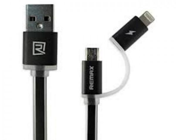 REMAX Kabl Aurora za iPhone 765 + micro 1m crni