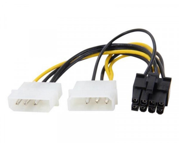 E-GREEN Naponski adapter za PCI-E VGA (8-pin) -2x Molex