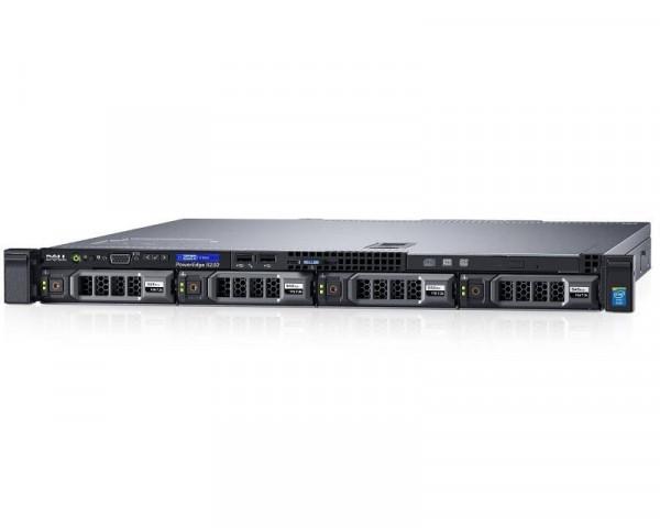 DELL PowerEdge R230 Xeon E3-1220 4C 8GB H330 1TB SATA DVDRW 250W 3yr NBD