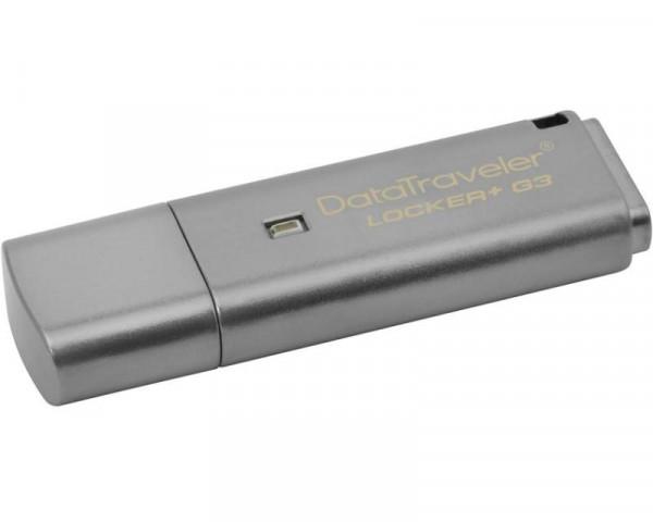 KINGSTON 16GB DataTraveler Locker+ Generation 3 USB 3.0 flash DTLPG316GB sivi