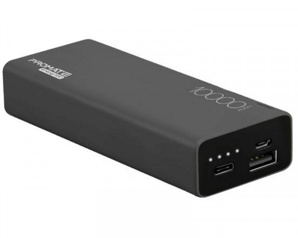 PROMATE Energi-10C Wireless 10,000mAh prenosiva baterija crna