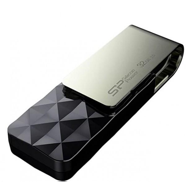 Flash Drive Silicon Power 32GB Blaze B30 USB3.0 SP032GBUF3B30V1K Black