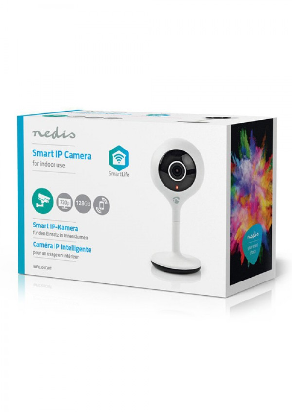 Nedis WiFi Smart IP Camera HD 720p WIFICI05CWT