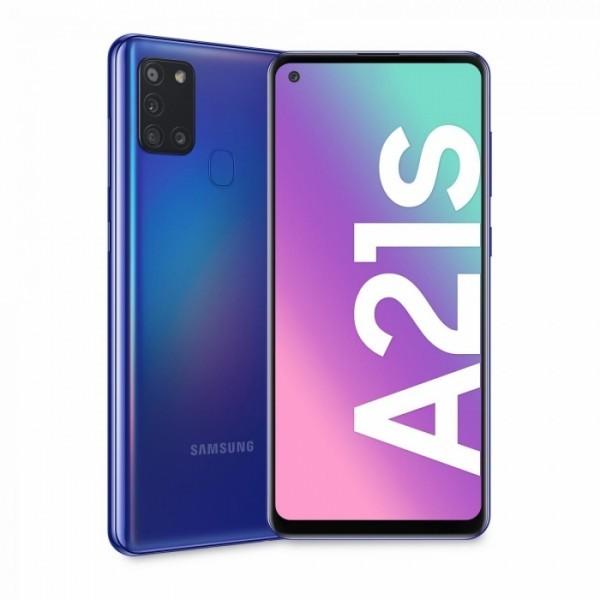 SAMSUNG Galaxy A21S (Plava), 6.5'', 332GB, 48Mpx + 8 Mpx + 2Mpx + 2Mpx
