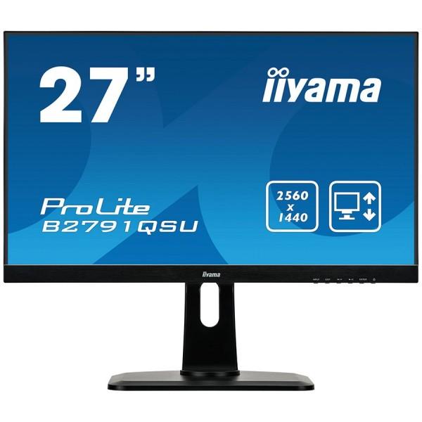 IIYAMA Monitor  27'' ETE TN, 2560x1440 WQHD, 1ms,  FreeSync, 13cm height adj. stand, 350cdm2, DisplayPort, HDMI, DVI, Speakers, USB-HUB(2x3.