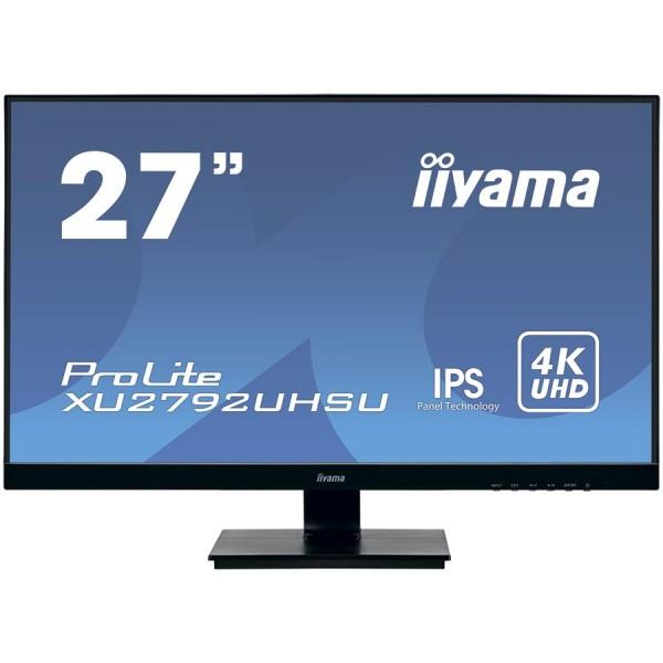 IIYAMA XU2792UHSU-B1 27'' ETE, ULTRA SLIM LINE, 3840x2160 UHD, IPS, 4ms, 300cdm˛, DVI, HDMI, DisplayPort, Speakers,  USB-HUB(2x3.0) ( XU2792