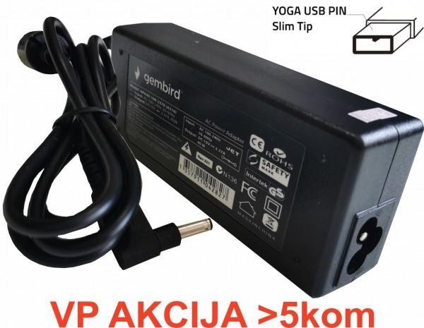 NPA40-200-2250 (IB01) ** Gembird punjac za laptop 40W-20V-2.25A, USB Yellow PIN (791 Alt=IB04)