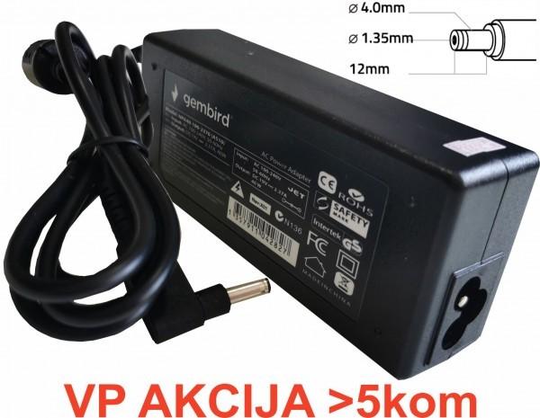 NPA40-190-2370 (AS10) ** Gembird punjac za laptop 40W-19V-2.37A, 4.0x1.35mm black (661 Alt=AS14)