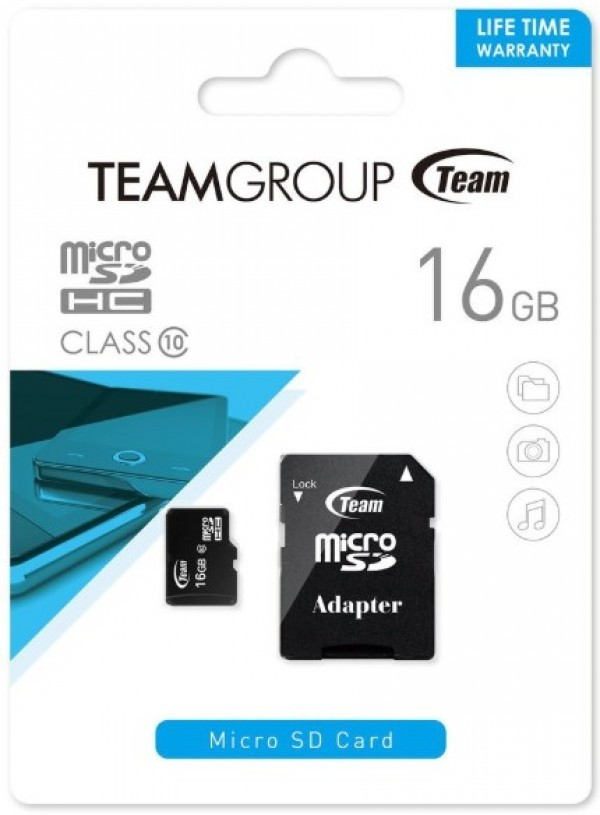 TeamGroup MICRO SDHC 16GB CLASS 10+SD Adapter TUSDH16GCL1003