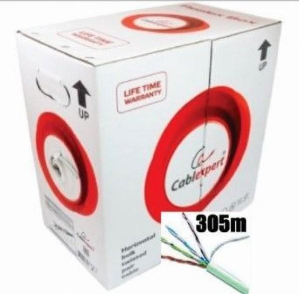 FPC-5004E-SOL Gembird FTP cat.5E Indoor solid PREMIUM CCA kotur 305m