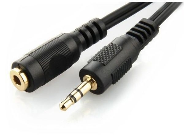 CCA-421S-5M Gembird 3.5mm stereo plug to 3.5mm stereo socket extension kabl 5m