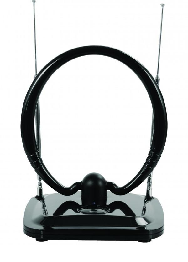 GMB-034B4 ** Gembird Antena sobna sa pojacalom, UHF/VHF, dobit 20dB, 12V crna (806)