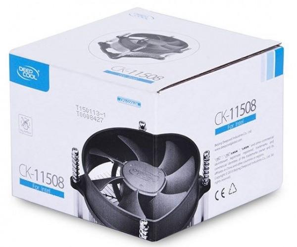 DeepCool CK-11508 Intel CPU kuler 65W 92mm.Fan 2200rpm 42CFM 30dBa LGA115x/LGA775/i7/i5/i3