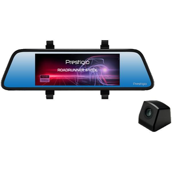 Prestigio RoadRunner 410DL, 6.86 (1280x480) touch display, Dual camera: front - FHD 1920x1080@30fps, HD 1280x720@30fps, rear - VGA 640x480@