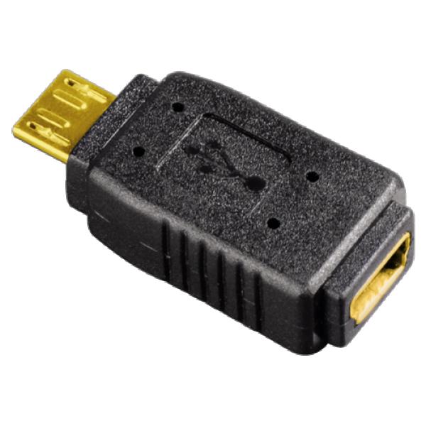 HAMA USB adapter Micro USB m - Mini USB Bž (Crni) - 39877