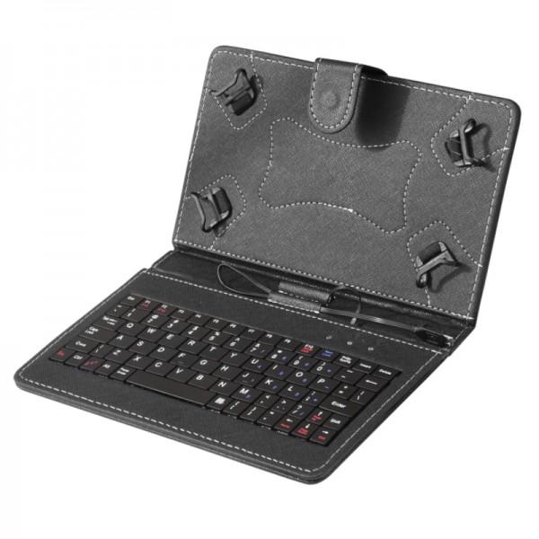 TA-PCK7-BLACK ** Gembird US Tastatura za 7'' Tablet PC sa futrolom ,sa micro USB konektorom(455)