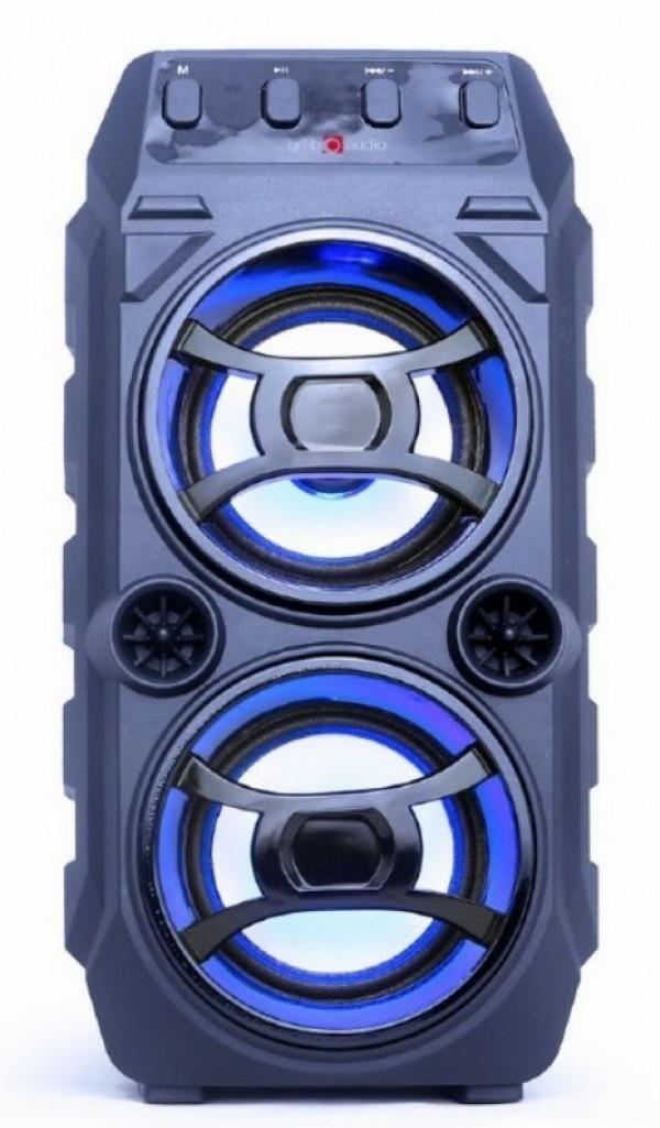 SPK-BT-13 Gembird Portable Bluetooth karaoke speaker 2x5W, USB, SD, 3,5mm, MIC 6,35mm, LED,  black