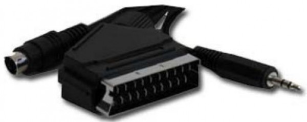 CCV-4444-10M Gembird SCART plug to S-Video+audio kabl 10m