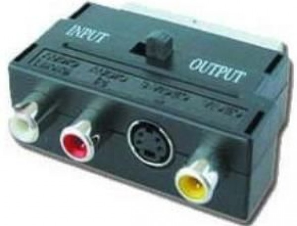 CCV-4415 Gembird 3 X RCA and 1 X S-Video plugs on one side and SCART on other side