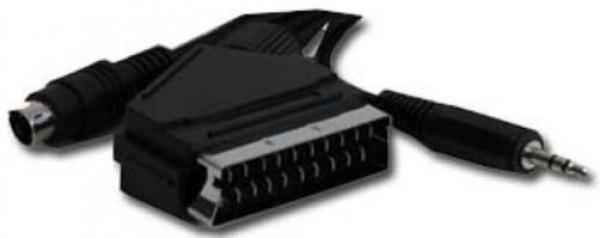 CCV-4444-5M Gembird SCART plug to S-Video+audio kabl 5m