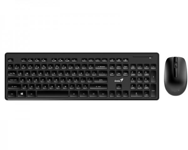 GENIUS SlimStar 8006 Wireless USB YU crna tastatura+ miš