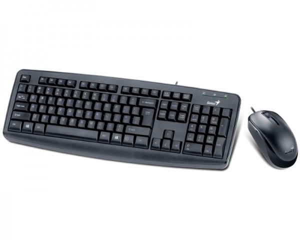 GENIUS KM-130 USB US crna + USB crni miš