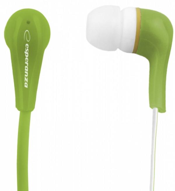 ESPERANZA slušalice bubice LOLLIPOP LEH146G zelene