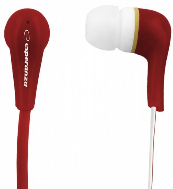 ESPERANZA slušalice bubice LOLLIPOP LEH146R crvene
