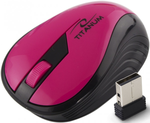 Titanum bežični miš 3D RAINBOW LTM114P crno - pink