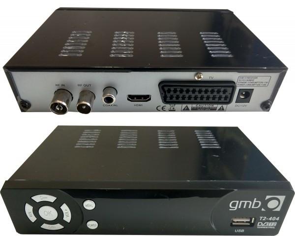 Set top box GMB-T2-404 DVB-T2 USB/HDMI/Scart/RF-out, PVR, Full HD, H264, hdmi-kabl, modulator 1359