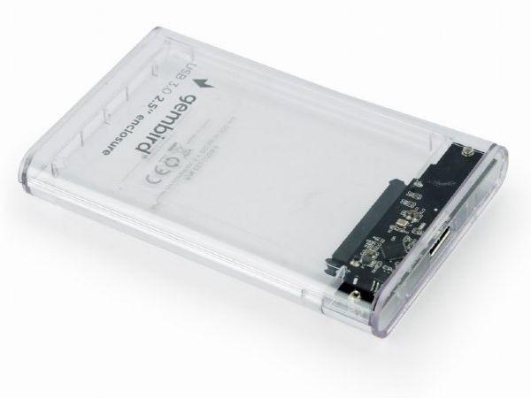 EE2-U3S9-6 Gembird USB 3.0 Externo kuciste za 2.5'' SATA hard diskove 9,5mm transparentni